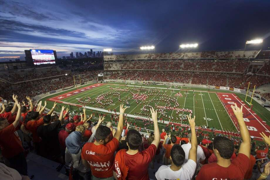 Aug. 29: UTSA 27, Houston 7  Record: 0-1   UH fans are fired up to break in their new football home - TDECU Stadium - even though the team didn't deliver a victory to open the season. Photo: Brett Coomer, Houston Chronicle