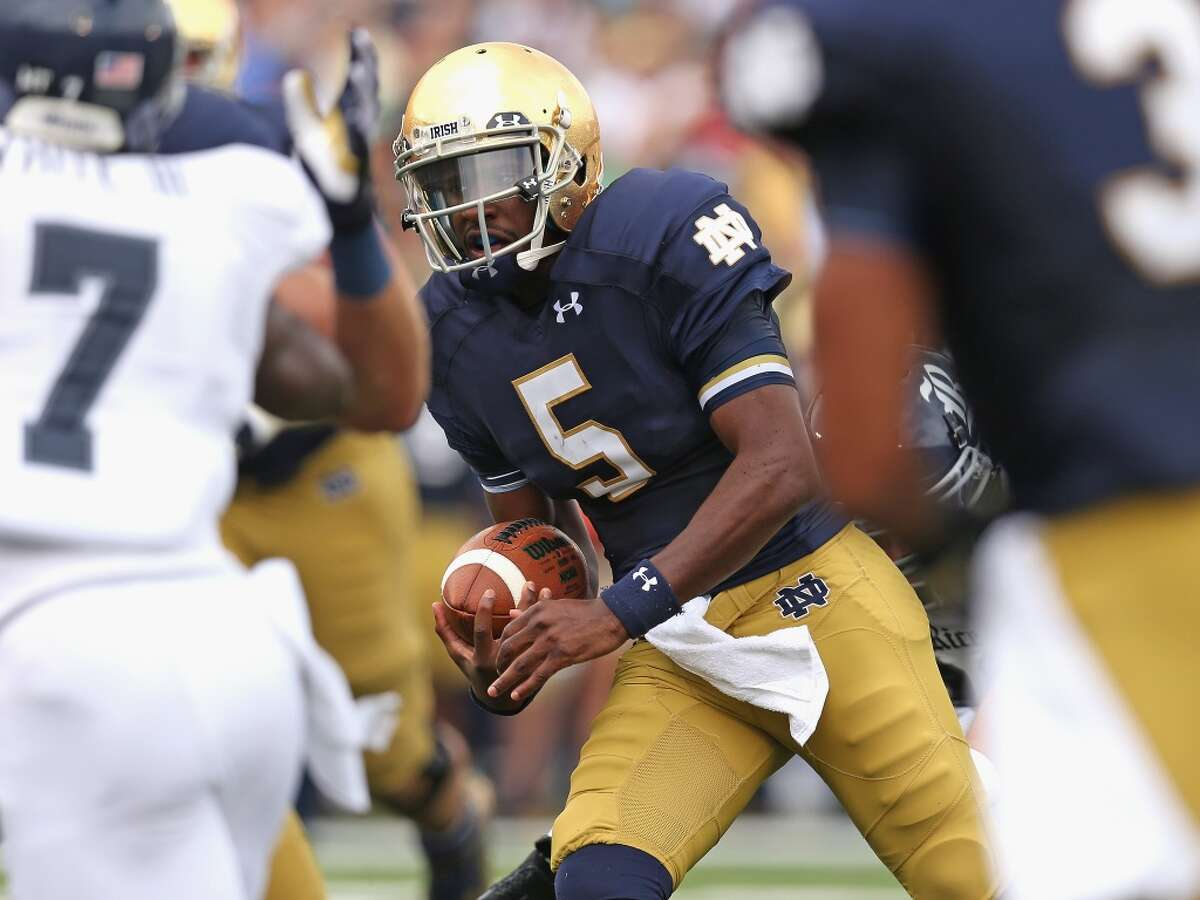 No. 9: Notre Dame Team:Fighting Irish Colors:Blue and gold Source:USA Today