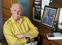 Author Joseph Persico in the writing study of his Guilderland home Thursday May 30, 2013. Persico died Saturday Aug. 30, 2014. (John Carl D'Annibale / Times Union)