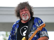 Raw Oyster Cult frontman and guitarist Dave Malone performing at the 7th Annual Blues Views and BBQ Festival at the Levitt Pavillion in Westport, Conn. on Saturday, Aug. 30, 2014.