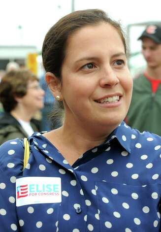 Elise Stefanik, candidate for congress in the 21st district,  at the Washington County Fair on Friday Aug. 22, 2014 in Greenwich, N.Y. (Michael P. Farrell/Times Union) Photo: Michael P. Farrell / 00028249A