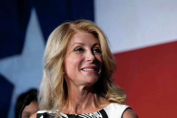 Texas Democratic gubernatorial candidate Wendy Davis presents her new education policy during a stop at Palo Alto College, Tuesday, Aug. 26, 2014, in San Antonio. Davis, lagging behind in both polling and campaign finances, spent about $4 million in August to attack Republican opponent Greg Abbott on television.  (AP Photo/Eric Gay)