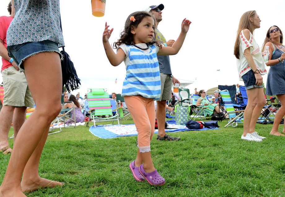 Blake Kamen, 3, of Mount Kisko, NY, dances as Raw Oyster Cult performs at the 7th Annual Blues Views and BBQ Festival at the Levitt Pavillion in Westport, Conn. on Saturday, Aug. 30, 2014. Photo: Christian Abraham / Connecticut Post