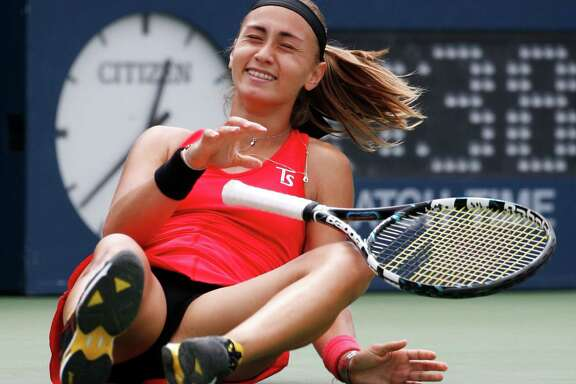 Aleksandra Krunic was equally shocked and relieved after defeating No. 3 seed Petra Kvitova 6-4 6-4 in a third-round upset.