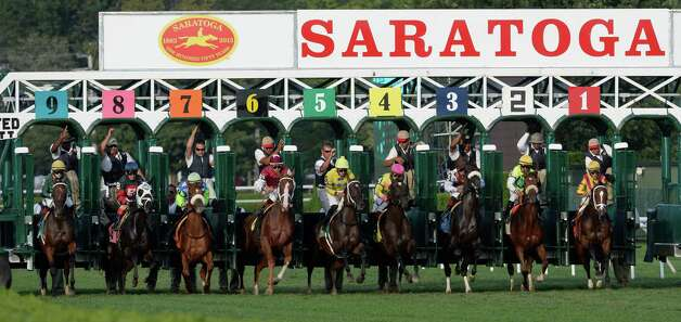 The field breaks the gate in 5th running of The Riskaverse Aug 30, 2013 at the Saratoga Race Course in Saratoga Springs, N.Y.   (Skip Dickstein/Times Union) Photo: SKIP DICKSTEIN