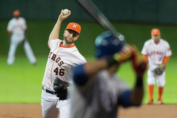 Astros starter Scott Feldman delivers on his way to his second career shutout, a three-hitter against the Rangers that ensured the Silver Boot will find a spot in Union Station for at least a year.