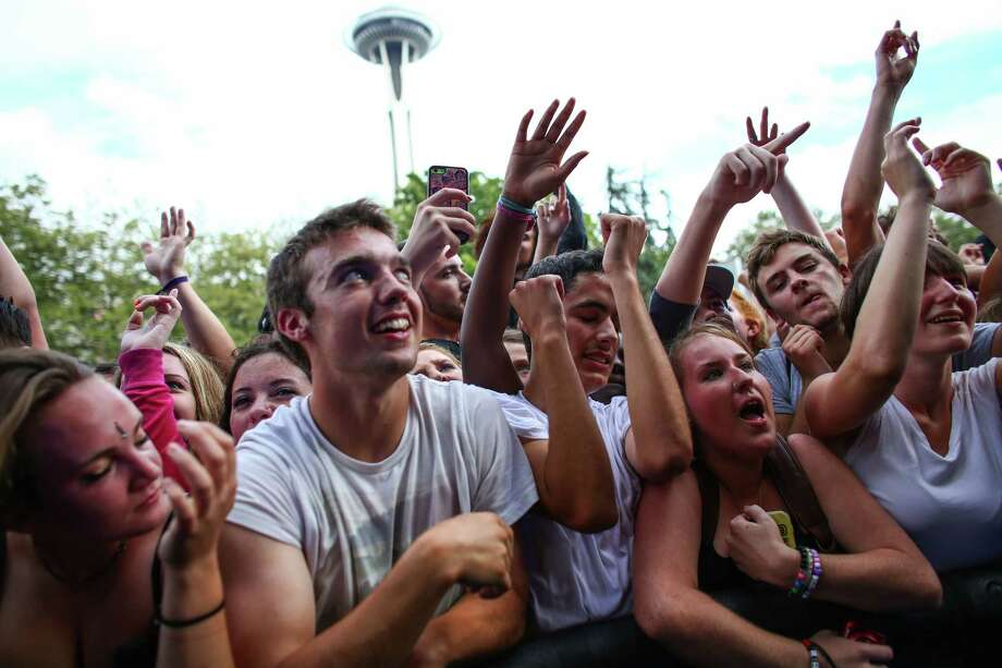 Fans listen to Danny Brown perform during day one of Bumbershoot. Photo: JOSHUA TRUJILLO, SEATTLEPI.COM / SEATTLEPI.COM