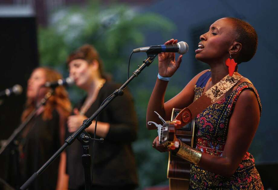 Naomi Wachira performs on the Starbucks Stage during day one of Bumbershoot. Photo: JOSHUA TRUJILLO, SEATTLEPI.COM / SEATTLEPI.COM