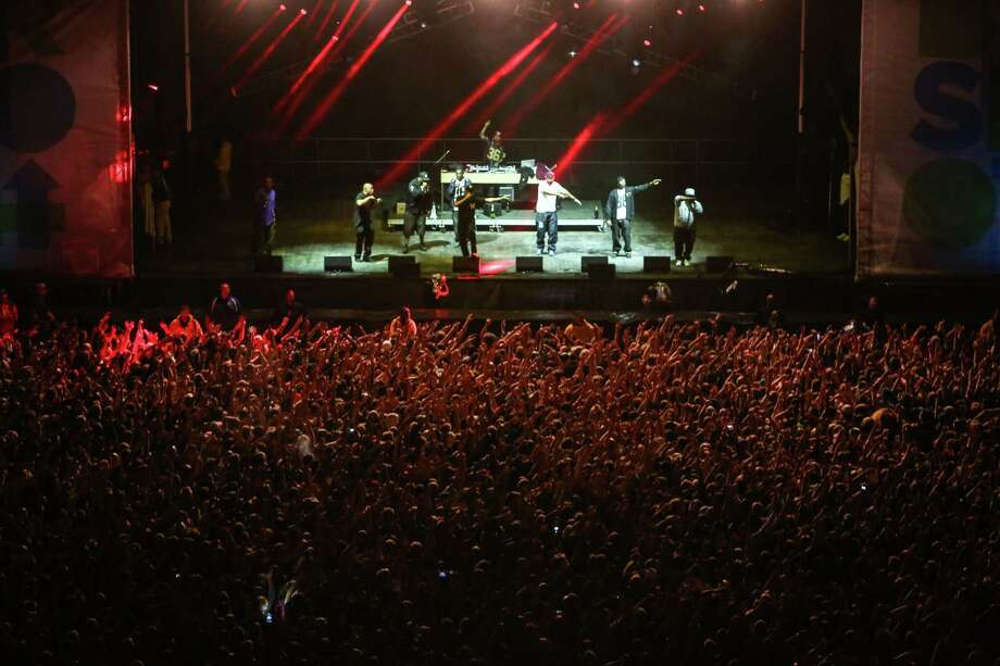 Hip hop group Wu-Tang Clan performs on the Main Stage. Photo: JOSHUA TRUJILLO, SEATTLEPI.COM / SEATTLEPI.COM