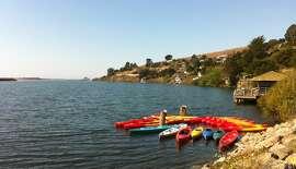 WaterTrek EcoTours kayaks near the dock in Jenner