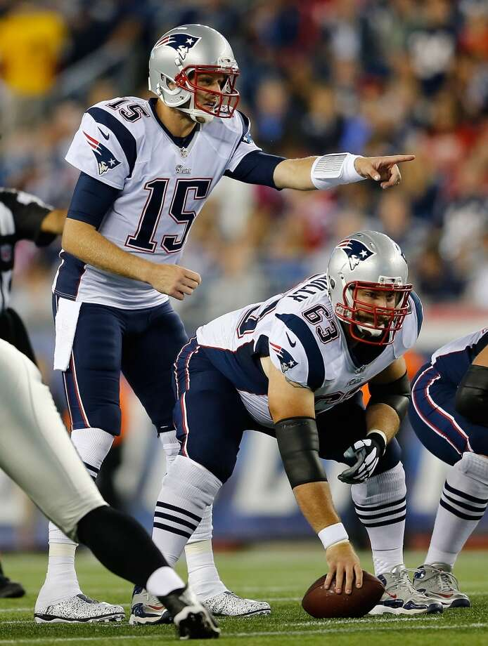 FOXBORO, MA - AUGUST 22: Ryan Mallett #15 of the New England Patriots prepares to take the snap from Dan Connolly the first quarter against Carolina Panthers in a preseason game at Gillette Stadium on August 22, 2014 in Foxboro, Massachusetts. (Photo by Jim Rogash/Getty Images) Photo: Jim Rogash, Getty Images
