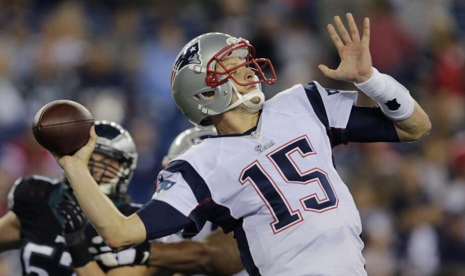New England Patriots quarterback Ryan Mallett (15) throws a pass in the second half of an NFL preseason football game Friday, Aug. 15, 2014, in Foxborough, Mass. (AP Photo/Charles Krupa) Photo: Charles Krupa, Associated Press