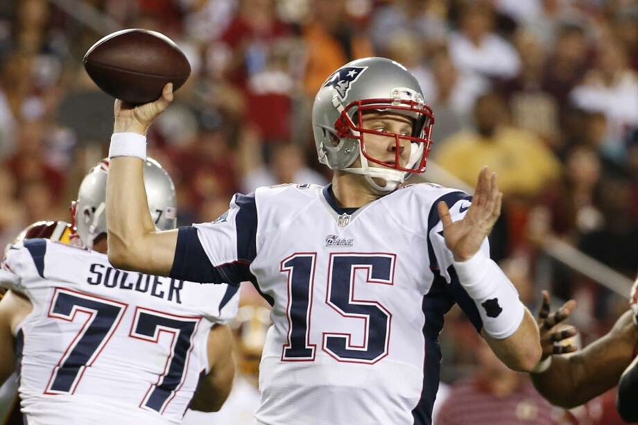 New England Patriots quarterback Ryan Mallett passes the ball during the first half of an NFL football preseason game against the Washington Redskins in Landover, Md., Thursday, Aug. 7, 2014. (AP Photo/Alex Brandon) Photo: Alex Brandon, Associated Press