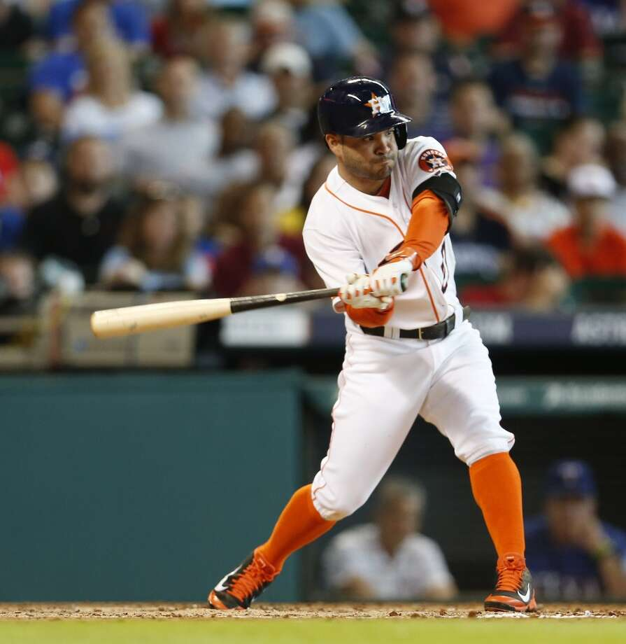 August 31: Astros 3, Rangers 2All-Star second baseman Jose Altuve went 4-for-5 with two doubles and the game-winning RBI in the series finale.  Record: 59-79. Photo: Karen Warren, Houston Chronicle