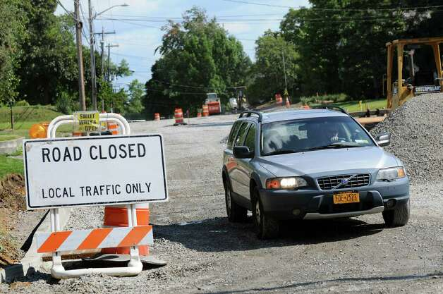 Road work continues on Sand Creek Road near Wilkins Avenue on Thursday, Aug. 28, 2014, in Colonie N.Y. (Cindy Schultz / Times Union) Photo: Cindy Schultz / 00028392A