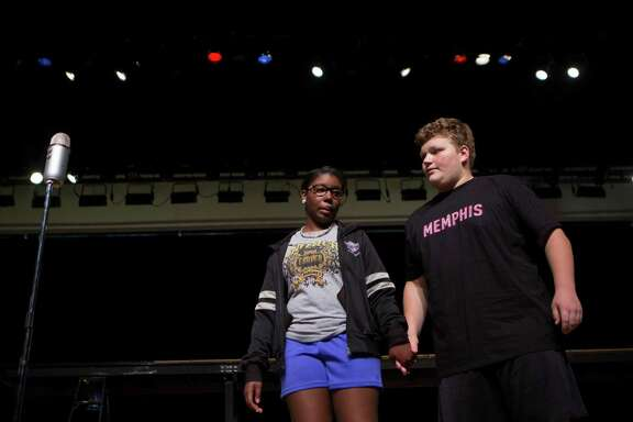 "Sariah Felix and Nathan Morgan play the lead parts in ""Memphis The Musical."" Felix, a student at Carver High and Morgan, of Memorial High, are part of a project that joined the schools to put together the play."