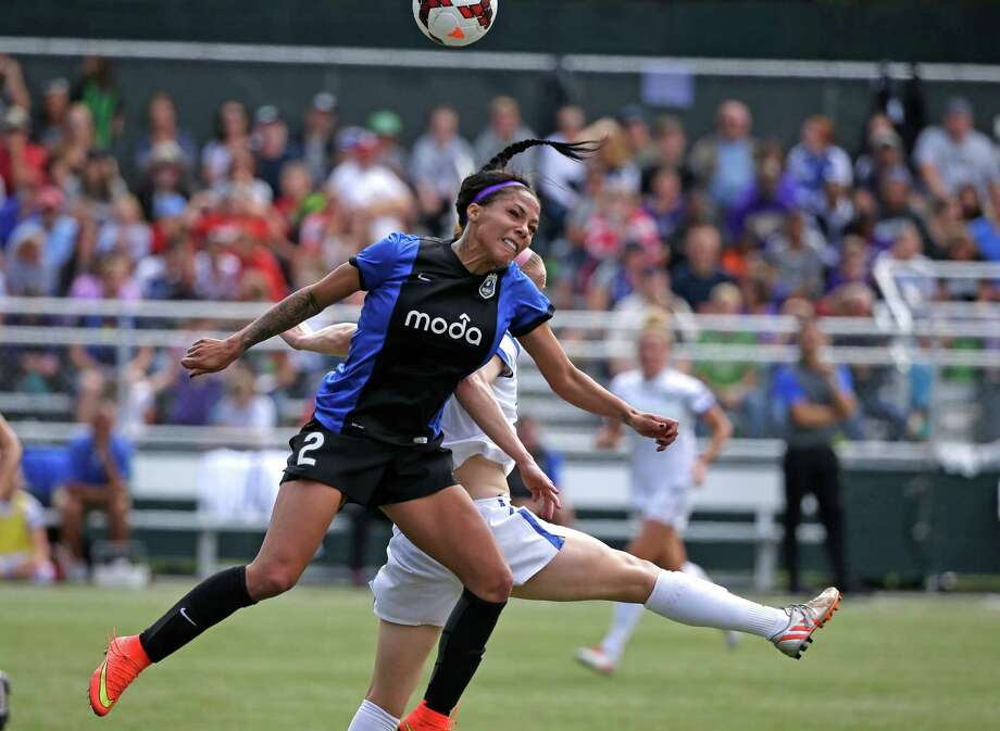 Seattle Reign FC's Sydney Leroux (2) in action against the FC Kansas City in the second half of the NWSL championship soccer match Sunday, Aug. 31, 2014, in Tukwila, Wash. Kansas City won 2-1. Photo: Elaine Thompson, AP / AP