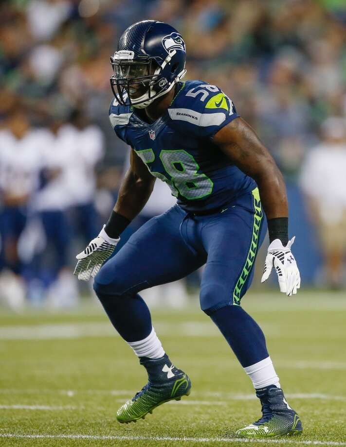 SEATTLE, WA - AUGUST 15:  Linebacker Kevin Pierre-Louis #58 of the Seattle Seahawks defends against the San Diego Chargers at CenturyLink Field on August 15, 2014 in Seattle, Washington.  (Photo by Otto Greule Jr/Getty Images) Photo: Getty Images