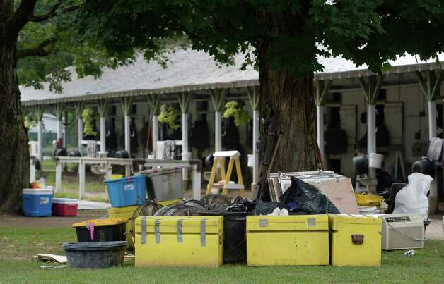 One of the racing stables packs up to leave as the last days of the meeting  come to a close Aug. 31, 2014 at the Saratoga Race Course in Saratoga Springs, N.Y.     (Skip Dickstein/Times Union) Photo: SKIP DICKSTEIN