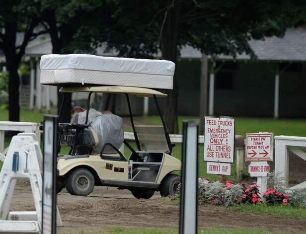 Stables are packing up with one more day to the meeting Sunday evening Aug. 31, 2014 at the Saratoga Race Course in Saratoga Springs, N.Y.     (Skip Dickstein/Times Union) Photo: SKIP DICKSTEIN