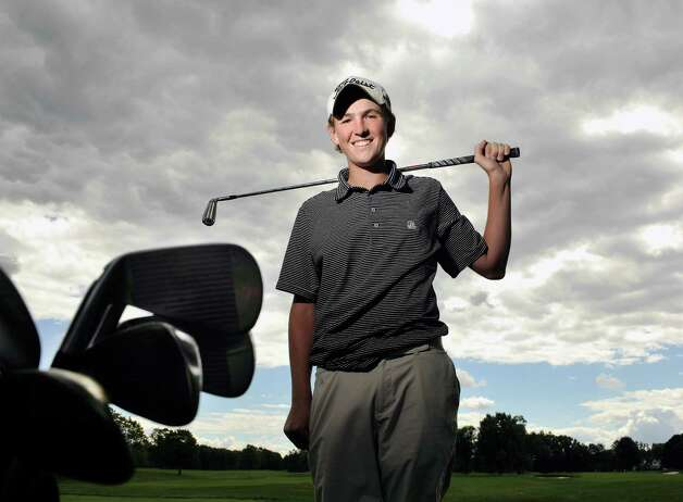 Sean Puleo, a golfer at Albany Academy, poses for a photograph at Schuyler Meadows Club on Thursday, Aug. 28, 2014, in Loudonville, N.Y.    (Paul Buckowski / Times Union) Photo: Paul Buckowski / 00028387A