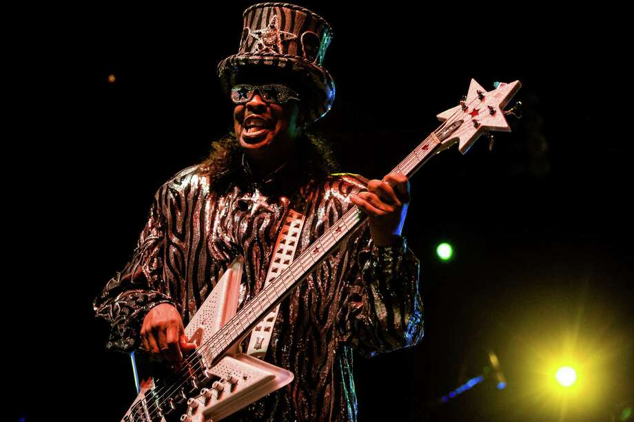 Bootsy Collins and his funk band perform on the second day of Bumbershoot, Seattle's annual music and arts festival, photographed Sunday, August 31, 2014, in Seattle, Washington. Photo: JORDAN STEAD, SEATTLEPI.COM / SEATTLEPI.COM