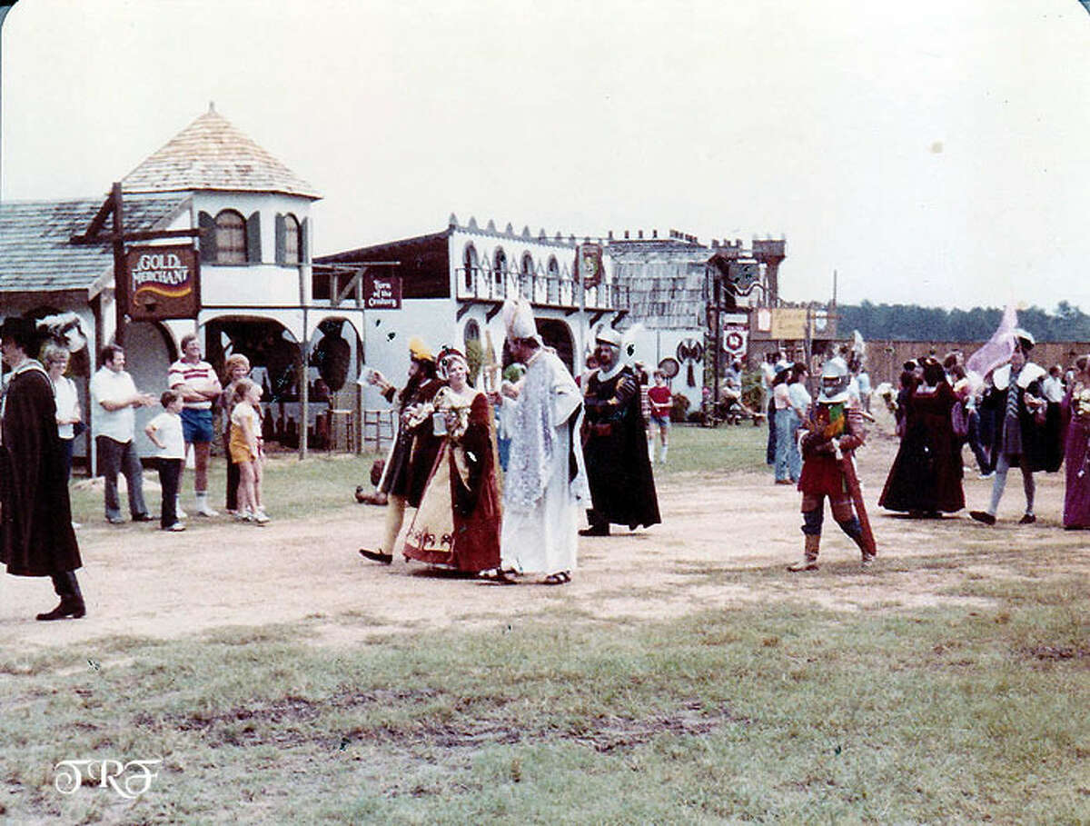 Ye Olde Days The Texas Renaissance Festival was incorporated in 1974 and the next year it began with three stages and 15 acres on what was once an old strip-mining site. Yes, it began life as a gravel pit.