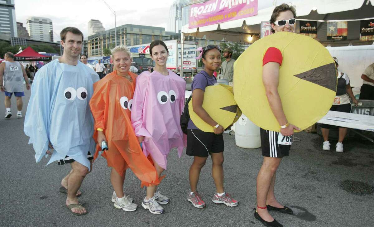 The Keep Austin Weird Festival and 5K encourages folks to dress up, like this Pac-Man family. A reader says he knows the true meaning behind the phrase