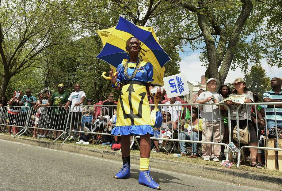 A reveler participates in the annual West Indian Day parade held on September 1, 2014 in the Brooklyn borough of New York City.  Photo: Michael Loccisano, Getty Images / 2014 Getty Images