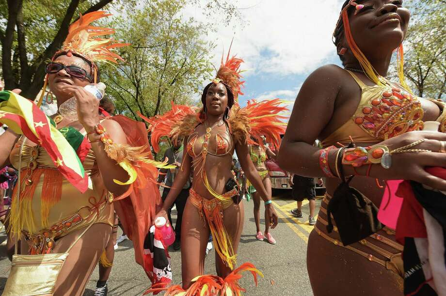 Parade dancers participate in the annual West Indian Day parade held on September 1, 2014 in the Brooklyn borough of New York City.  Photo: Michael Loccisano, Getty Images / 2014 Getty Images