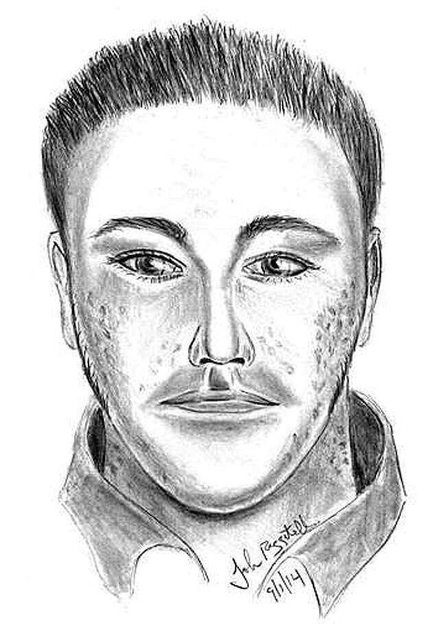 A sketch of a man suspected of assaulting a woman during a home break-in early Monday has been released by police. Photo: Fairfield Police Department / Fairfield Citizen
