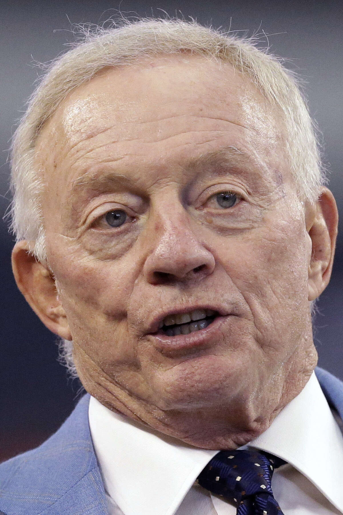 Jerry Jones, typically an optimist, is being realistic about a Dallas roster full of questions.