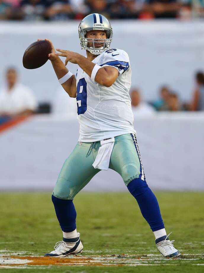 Tony Romo will lead Dallas against the 49ers in Sunday's season opener. Photo: J Pat Carter, Associated Press