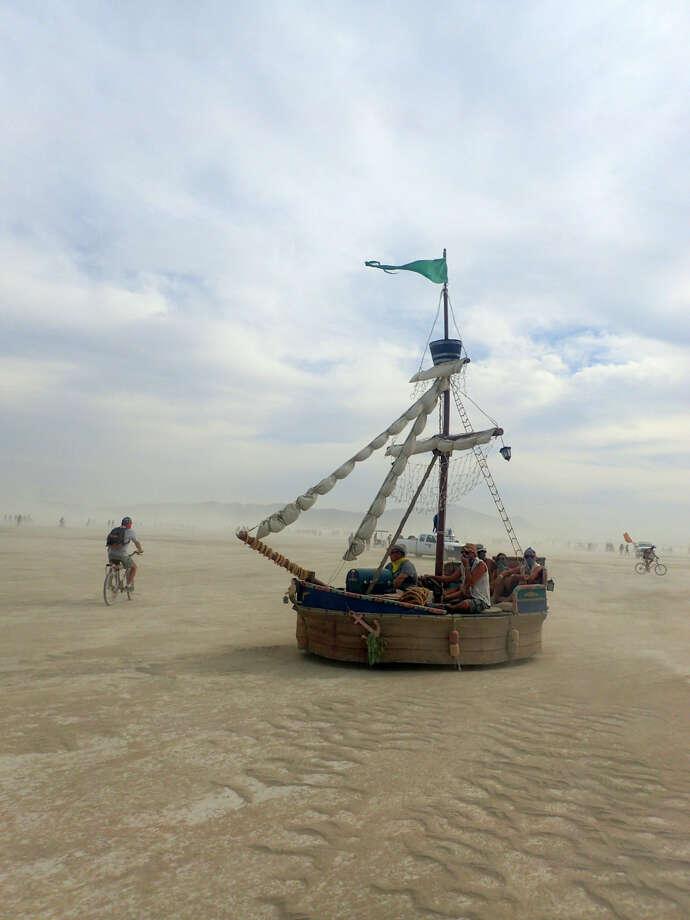Sailboats ain't afraid of no dust storm. Photo: Mark Morford