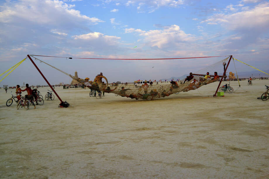 Giant hammock. Giant hammock. Giant hammock. Say it like a mantra as you swing. Photo: Mark Morford