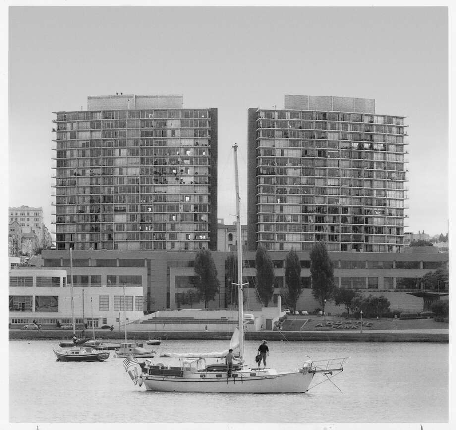"""Fontana East & West stunk then (when they opened in the early 1960s) and are the gifts that keep on stinking,"" says D_Standing,  referring to the pair of  towers near Aquatic Park that were held up as cautionary tales by opponents of waterfront towers in this year's Proposition B. Photo: Chronicle Archive, The Chronicle"