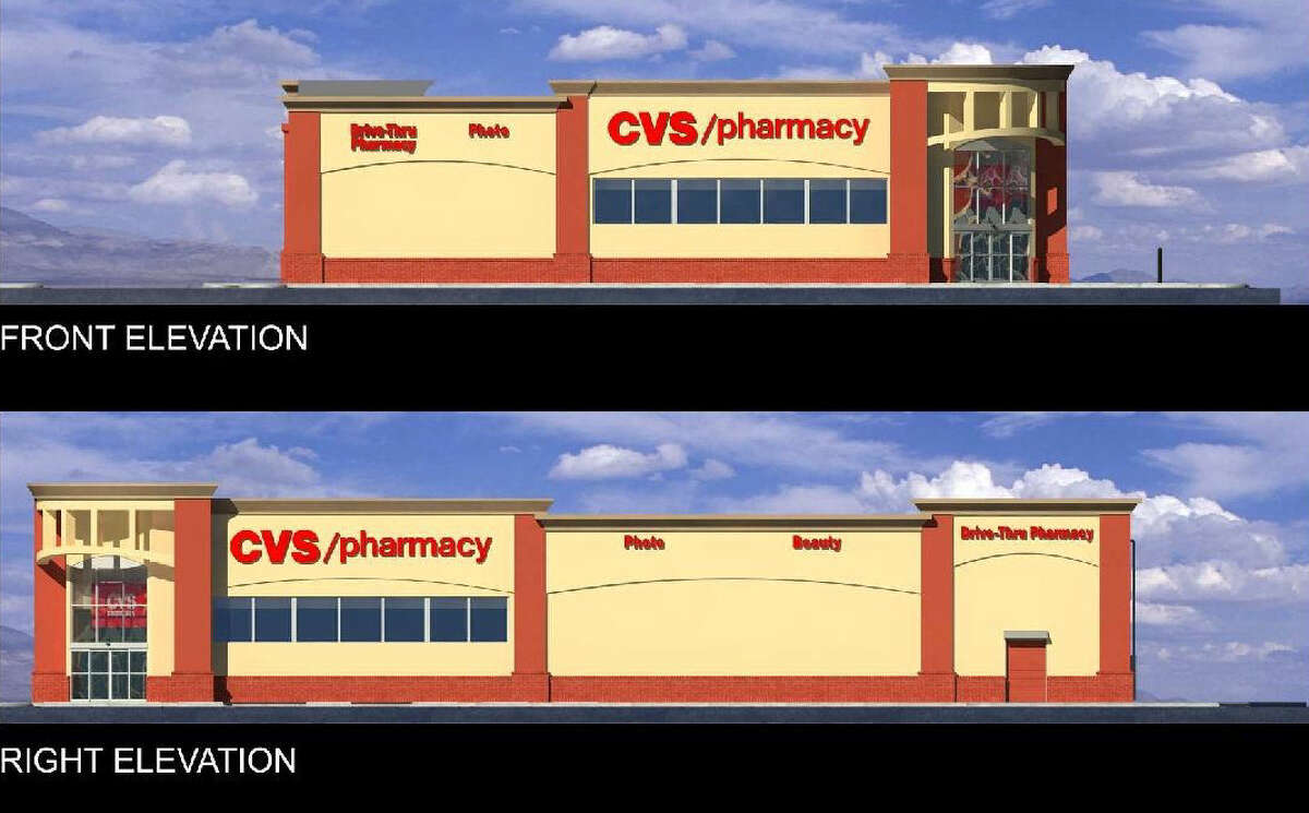 This is a previous rendering of CVS' proposed pharmacy at 4600 Broadway. The company is modifying its site plan for a rezoning request.