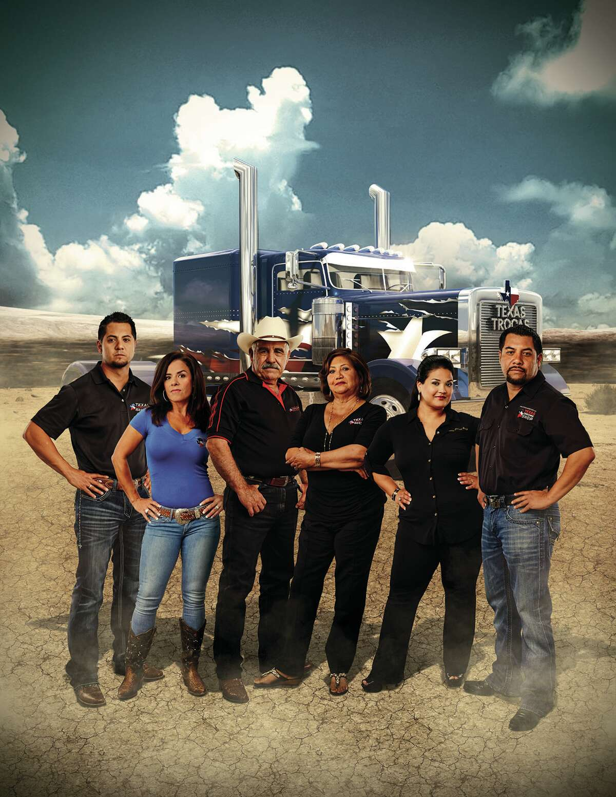 The multi-generational Méndez family (from left,Raúl Méndez , Jr. and his wife, Lorena; family partiarch Raúl Méndez , Sr. and his wife, Lupita; Johann and her husband, Rolando Méndez ) are the stars of a new reality show on Discovery en Español.