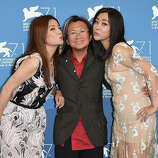 Actress Zhao Wei, director Peter Chan and actress Lei Hao attend 'Dearest' (Quin'ai De) Photocall during the 71st Venice Film Festival at Palazzo Del Casino on August 28, 2014 in Venice, Italy.