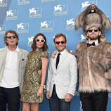 Producer  Gregory Bernard, actors Elodie Bouchez, Jonathan Lambert and a member of the crew dressed as a rat attend the 'Reality' Photocall during the 71st Venice Film Festival on August 28, 2014 in Venice, Italy.