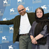 "Actor Habib Rezaei and director Rakhshan Bani-E'temad attend the ""Tales"" (Ghesseha) photocall during the 71st Venice Film Festival on August 28, 2014 in Venice, Italy."