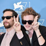 Director Joshua Safdie and actor Caleb Landry Jones attend the 'Heaven Knows What' photocall during the 71st Venice Film Festival on August 29, 2014 in Venice, Italy.