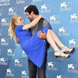 Actor Pierfrancesco Favino and actress Greta Scarano attend the 'Senza Nessuna Pieta' photocall during the 71st Venice Film Festival on August 30, 2014 in Venice, Italy.