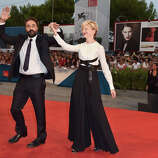 Director Saverio Costanzo ands actress Alba Rohrwacher attend the 'Hungry Hearts' premiere during the 71st Venice Film Festival on August 31, 2014 in Venice, Italy.