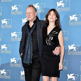 Actors Stellan Skarsgard and Charlotte Gainsbourg attend the 'Nymphomaniac: Volume 2 - Directors Cut' photocall during the 71st Venice Film Festival on September 1, 2014 in Venice, Italy.