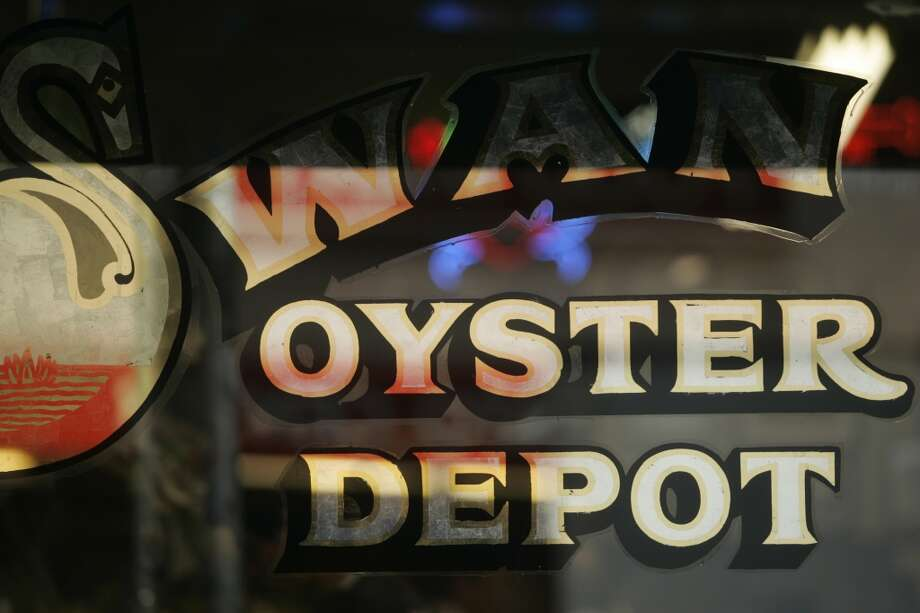 Signage. Ever wonder where Swan Oyster Depot got its name? Photo: Jim Merithew, SFC