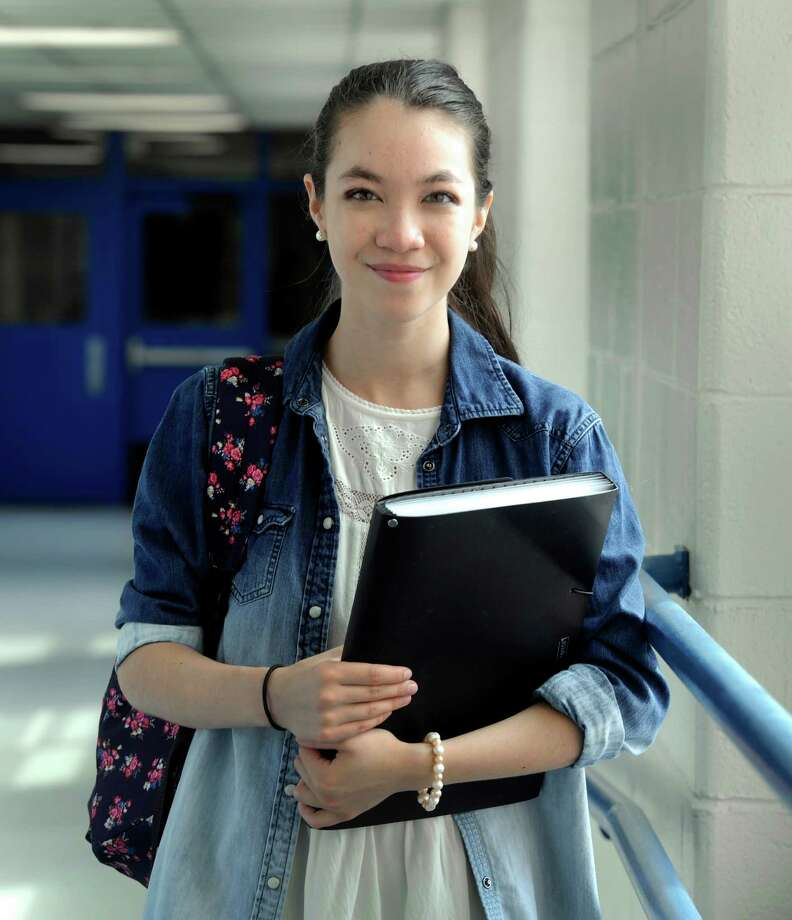 Alexandra Prendergast, 16, was recently selected to be a Senate Page for U.S. Senator Chris Murphy. The Danbury High School junior is photographed at the school Tuesday, Sept. 2, 2014 in Danbury, Conn. Photo: Carol Kaliff / The News-Times