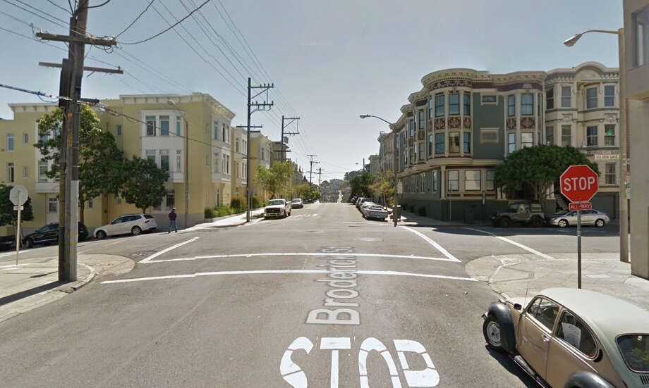 The intersection of Golden Gate Avenue and Broderick Street in San Francisco. Photo: Google Maps