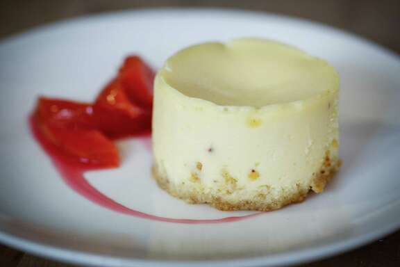 Marla Bakery's cheesecake by Amy Brown is made with farmer's cheese, which lends a pleasing texture.