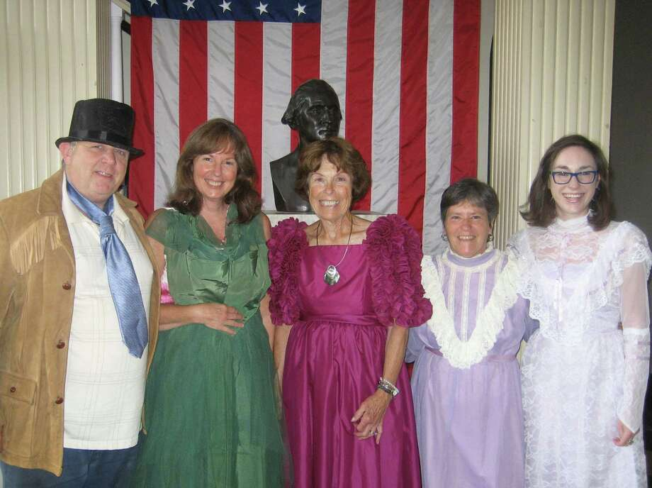 The Dramalites, one of the state's oldest community theater organizations, is seeking new members. Among those active in the Washington thespian group are, from left to right, Bryan Memorial Town Hall custodian John Gueniat, Washington tax collector Donna Alex, Phyllis Allen, an assistant to First Selectman Mark Lyon, town clerk Sheila Anson and assistant town clerk Amber Lamothe. If interested in more information about the Dramalites, call Marla Truini at 203-577-4597.  Courtesy of the Dramalites Photo: Contributed Photo / The News-Times Contributed